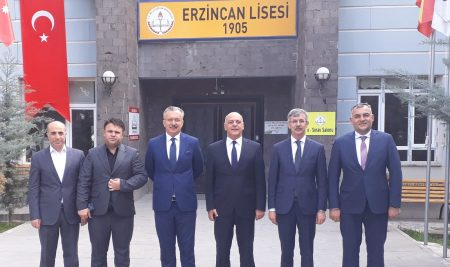 Visit from our Rector to Erzincan High School He Graduated